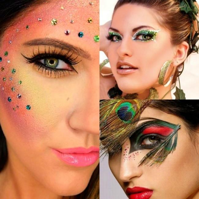 schminken fasching make up ideen gesicht
