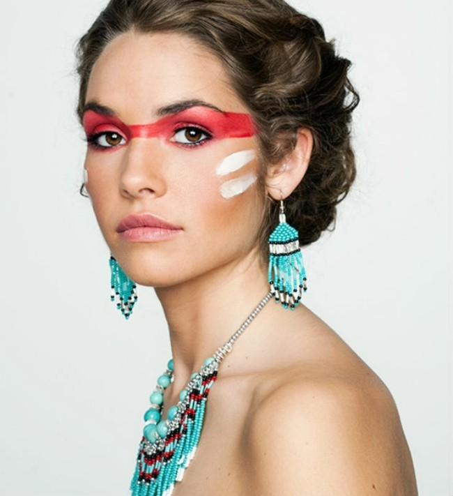 schminken fasching schminktipps indianerin