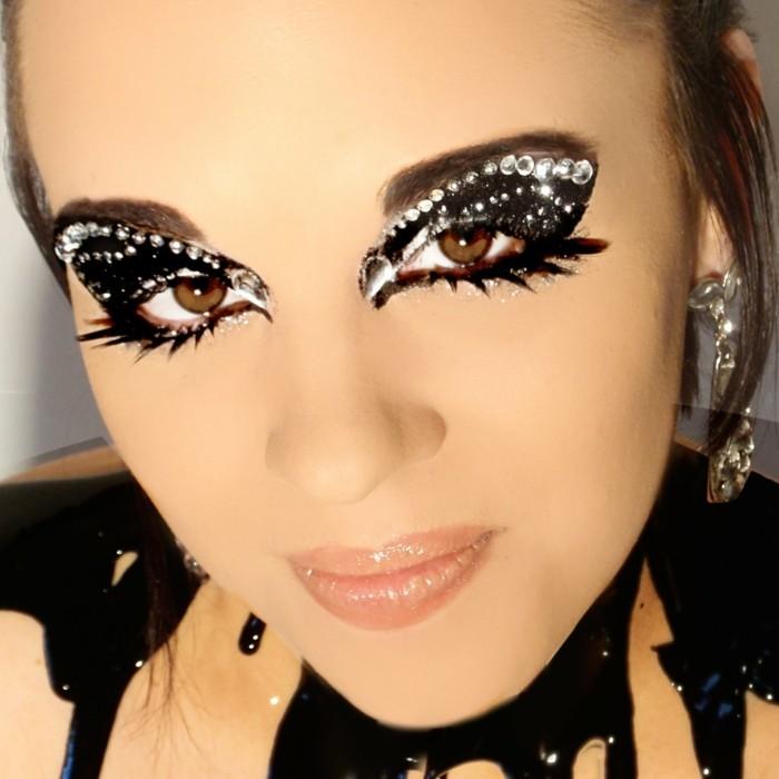 schminktipps karneval augefallene gesichtsschminke frauen