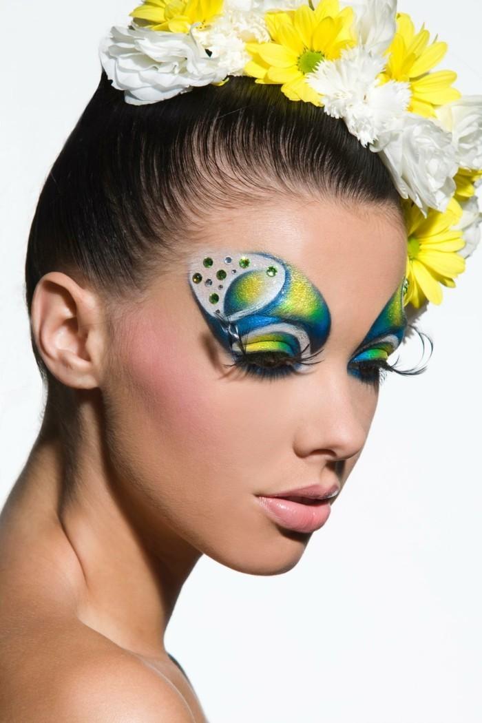 schminktipps karneval frische gesichtsschminke frauen