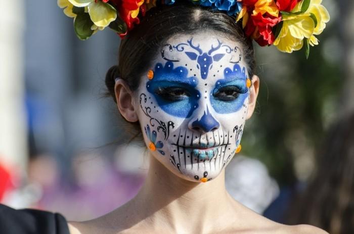 schminktipps karneval gesicht färben ideen frauen