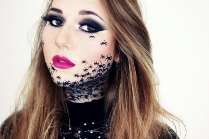 schminktipps karneval schreckliche gesichtsschminke