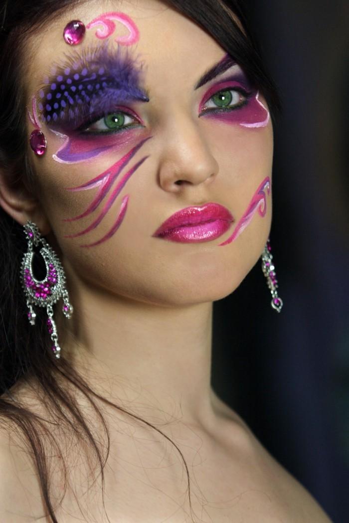 schminktipps karneval verrückte gesichtsschminke