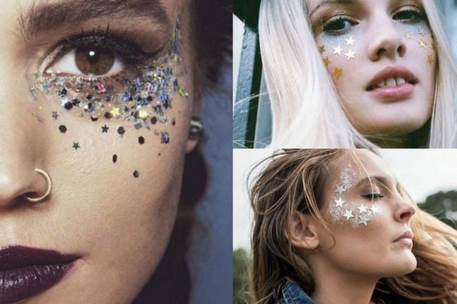 sterne make up ideen schminken fasching karneval
