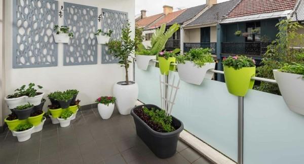 super moderne ausstrahlung auf einem Balkon Garten
