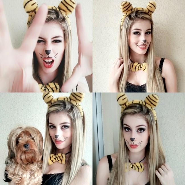 tiger make up ideen schminken fasching