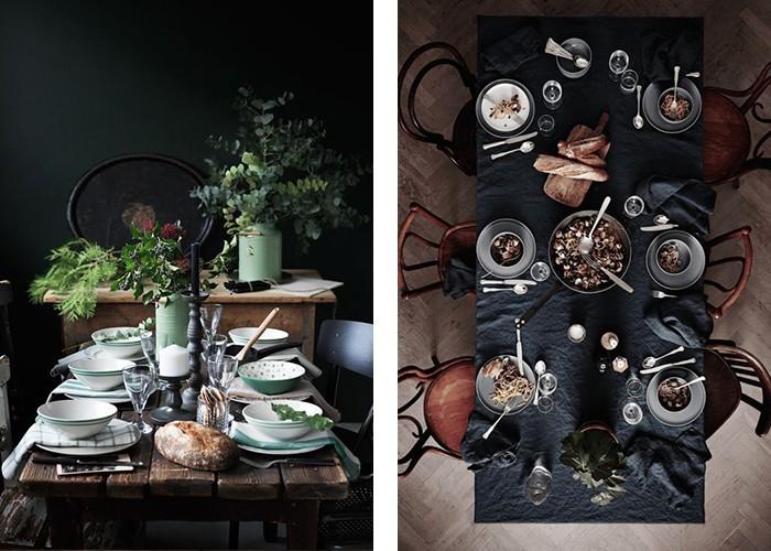 tisch dekorieren dunkel stilvoll dekoideen