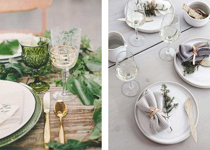 Tisch Dekorieren Grundfarbe Bestimmen