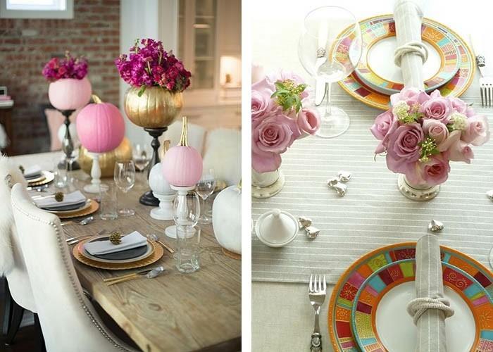 tisch dekorieren sanfte akzente rosa