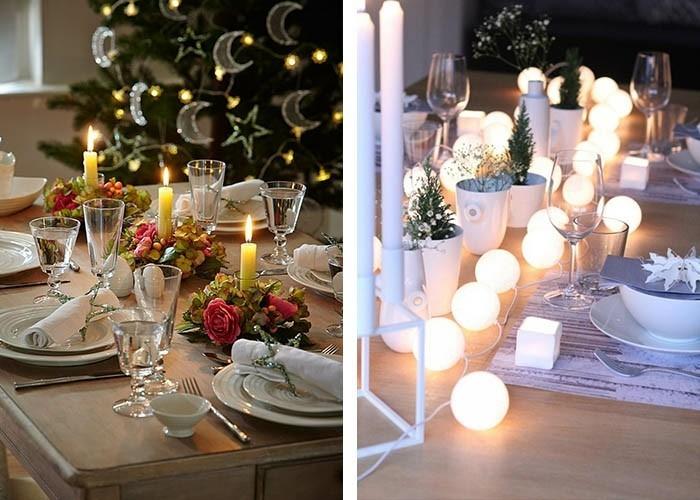tisch dekorieren weihnachtsstimmung schaffen