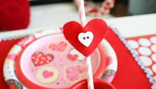 Tolle Deko Für Strohlalme Valentinstag Deko