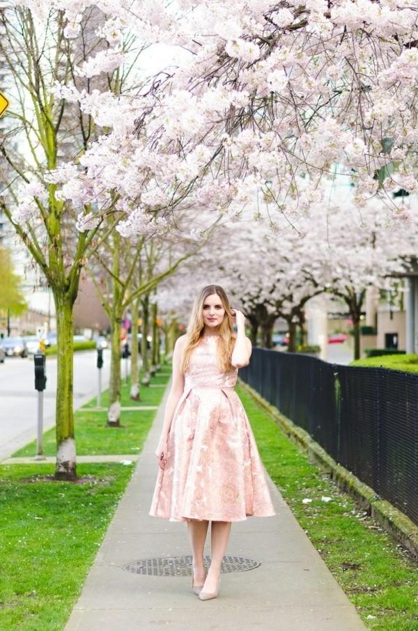 tolles rosa flair Hochzeitsgast Kleider