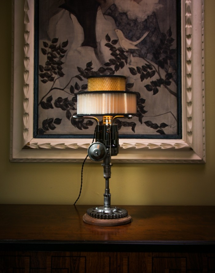upcycling ideen diy lampen alte technik