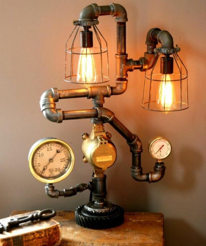 upcycling ideen diy lampen heizung anschluss