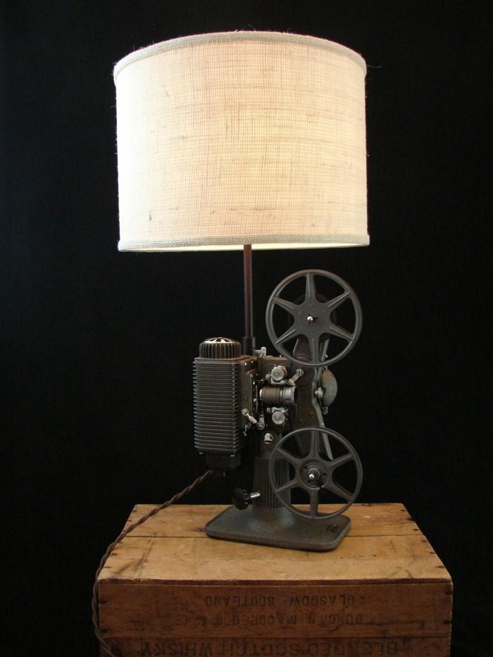 upcycling ideen diy lampen magnetrekorder