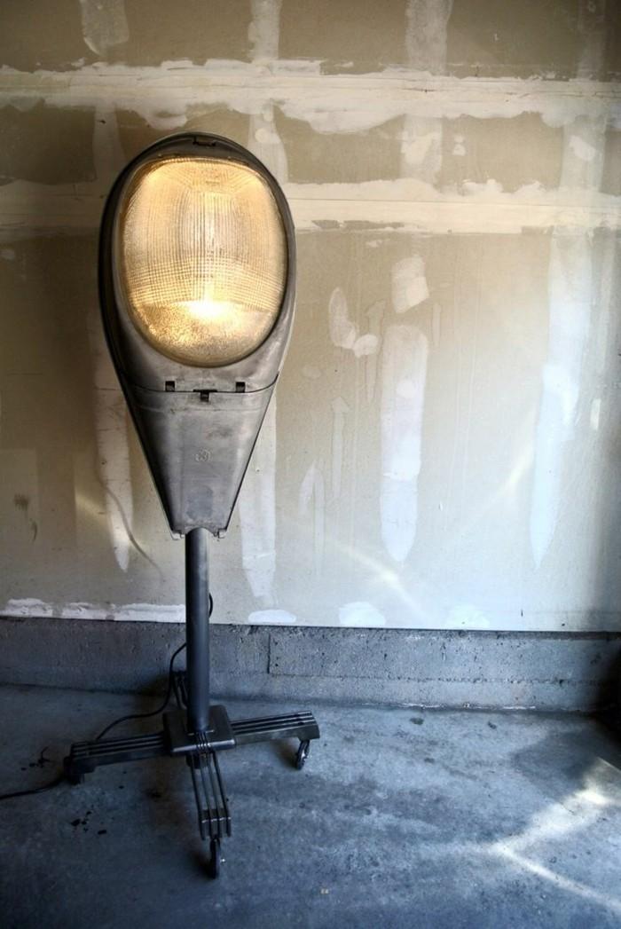 upcycling ideen diy lampen nachttisch lampe strassenleuchte