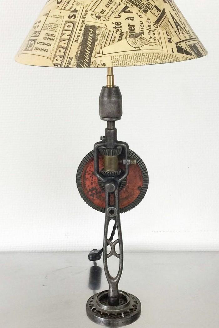 upcycling ideen diy lampen nachttisch lampe