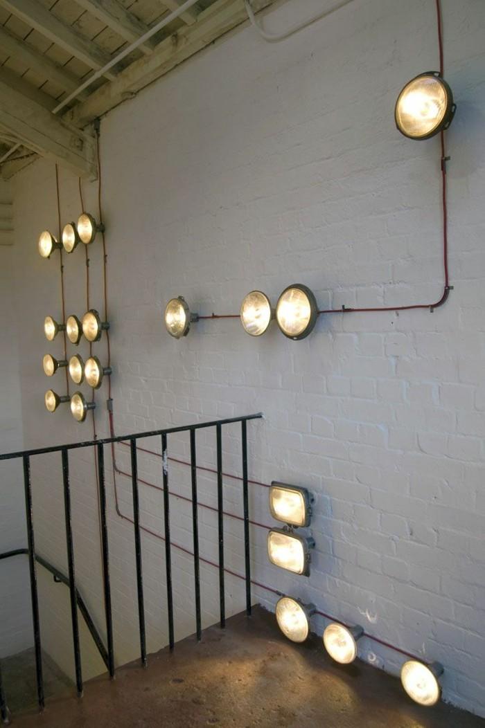 upcycling ideen diy lampen scheinwerfer