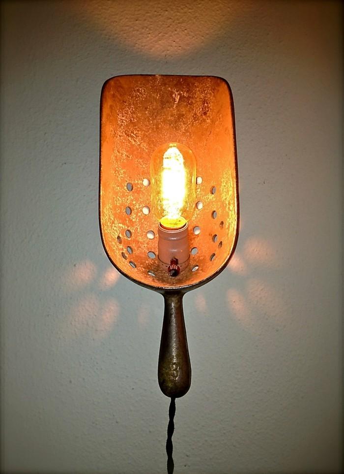upcycling ideen diy lampen schichten metall