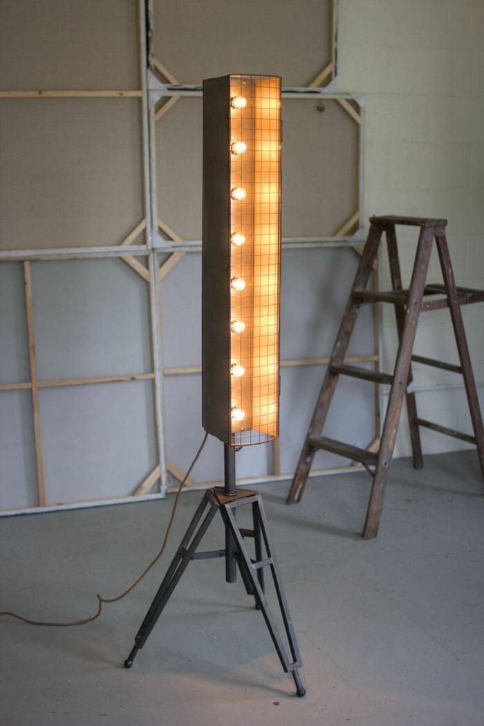 upcycling ideen diy lampenschirm baustrahler
