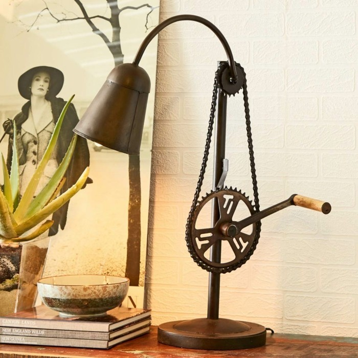upcycling ideen diy lampenschirm fahrradkette