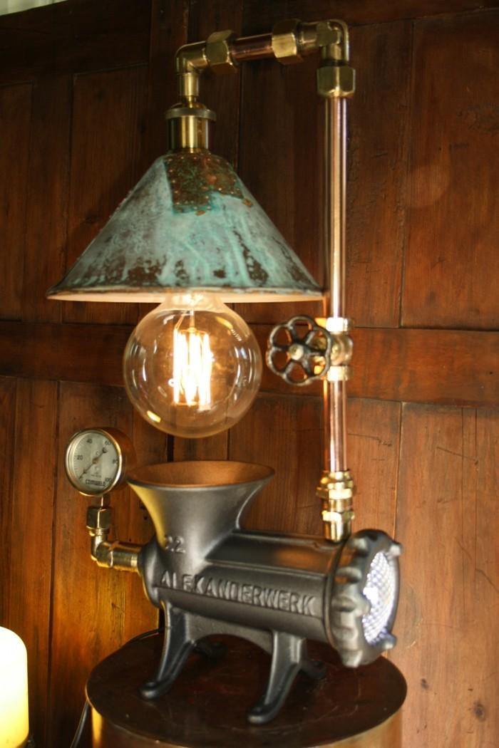 upcycling ideen diy lampenschirm fleisch