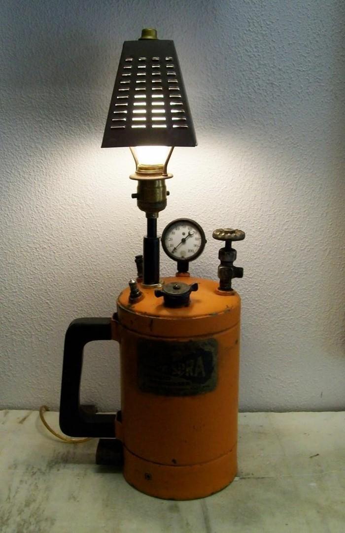 upcycling ideen diy lampenschirm rustik