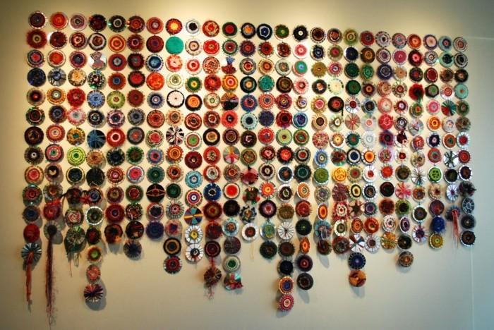 upcycling ideen zum selber machen bestickte cd rohlinge