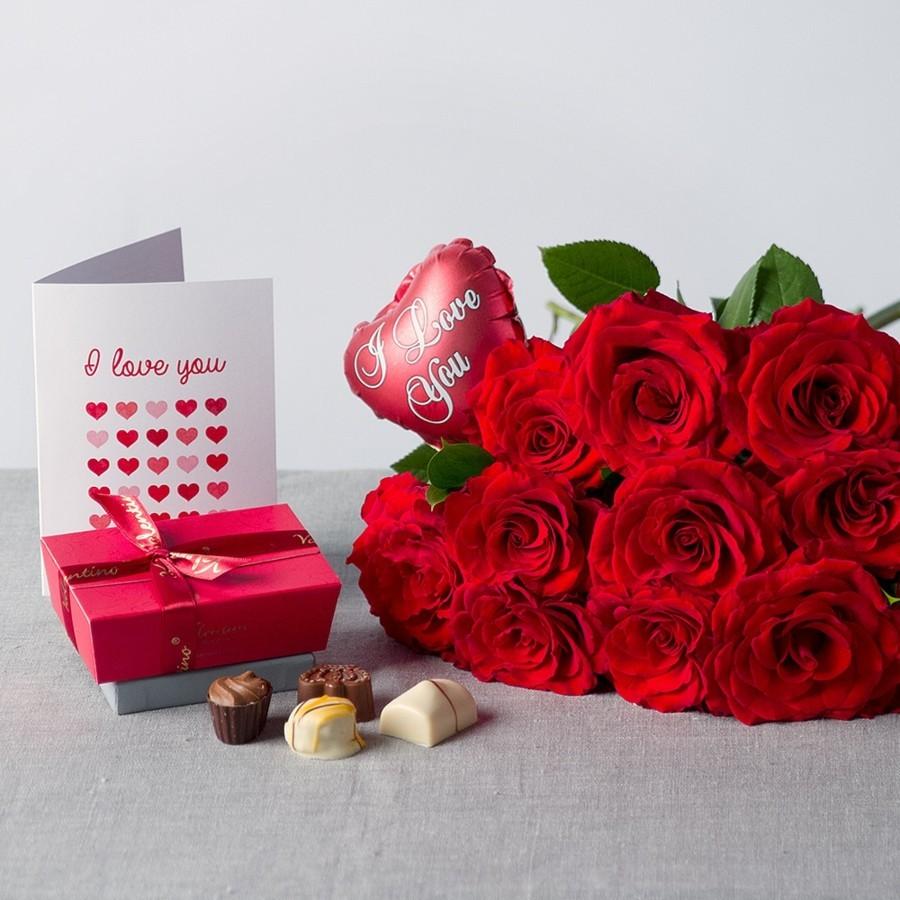 valentinstag blumen klassisches geschenk