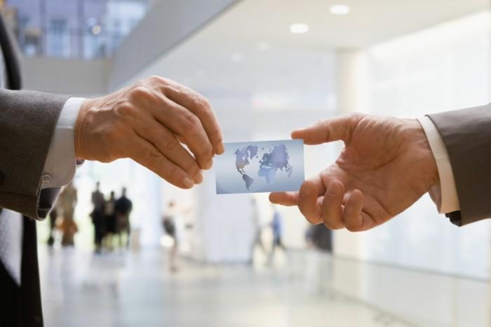 visitenkarten austauschen business tipps