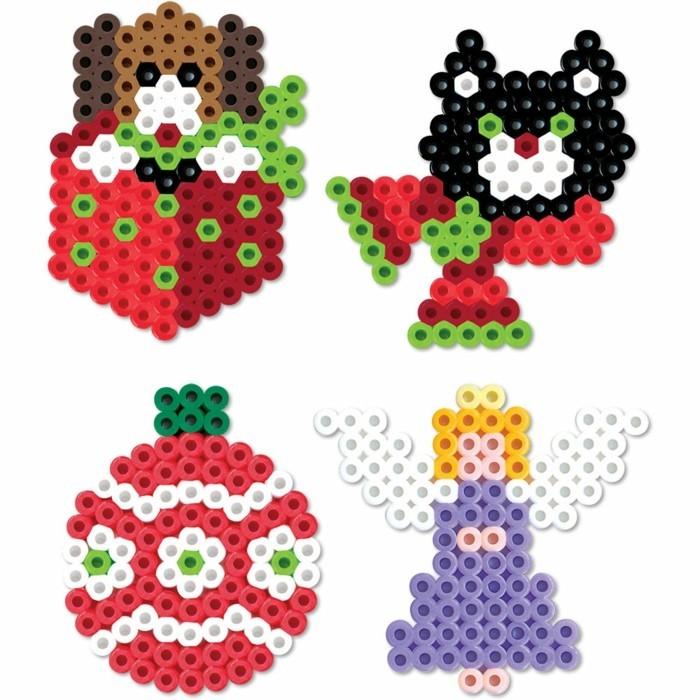 vorlage basteln mit bügelperlen kleine figuren bastelideen