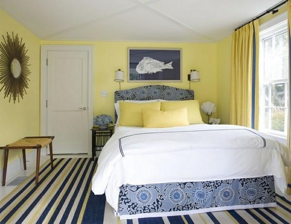 wandfarbe zitrone im schlafzimmer