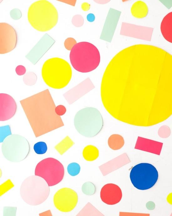 wandgestaltung ideen die geometrischen figuren