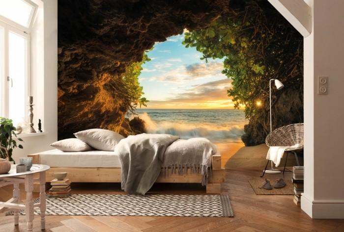 wandtapete fototapete schlafzimmer wunderschöne landschaft