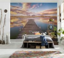 die wandtapete wie eine fototapete den raum vllig verndert wenn sie in ihrer modernen wohnung - Einfache Dekoration Und Mobel Individuelle Fototapeten Fuer Die Wohnung