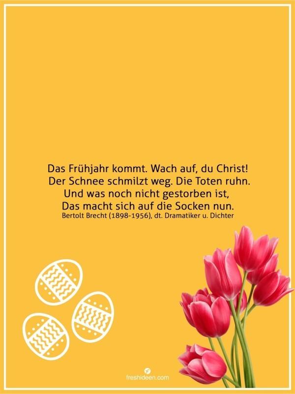 Bertolt Brecht Zitate Frühling neuer Anfang