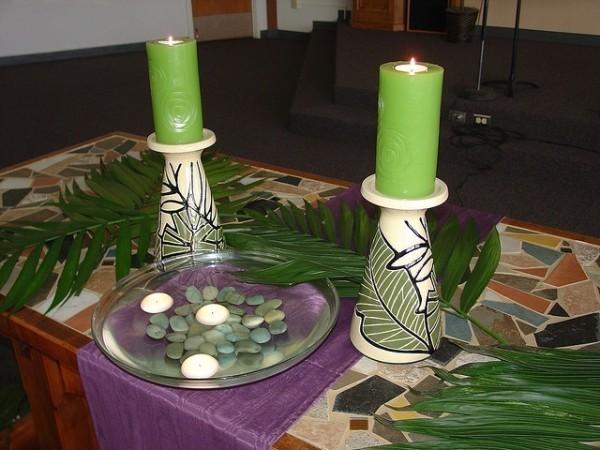 Deko zum Palmsonntag Grün dominierende Farbe
