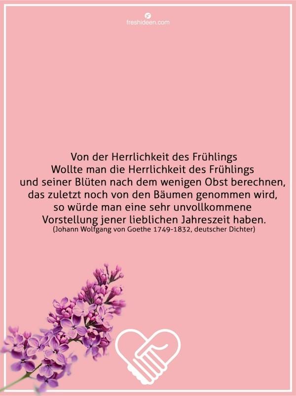 Goethe Zitate über Frühling