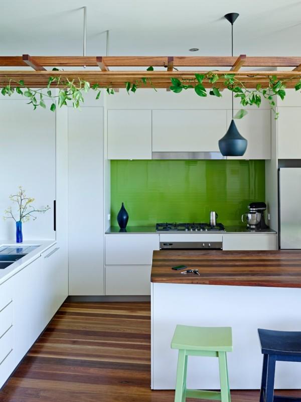 Grün Küche grüne Küchenrückwand