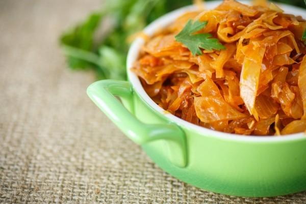 Kohl geschmort kalorienarm ohne Fett schmeckt gut festliches irisches Menu