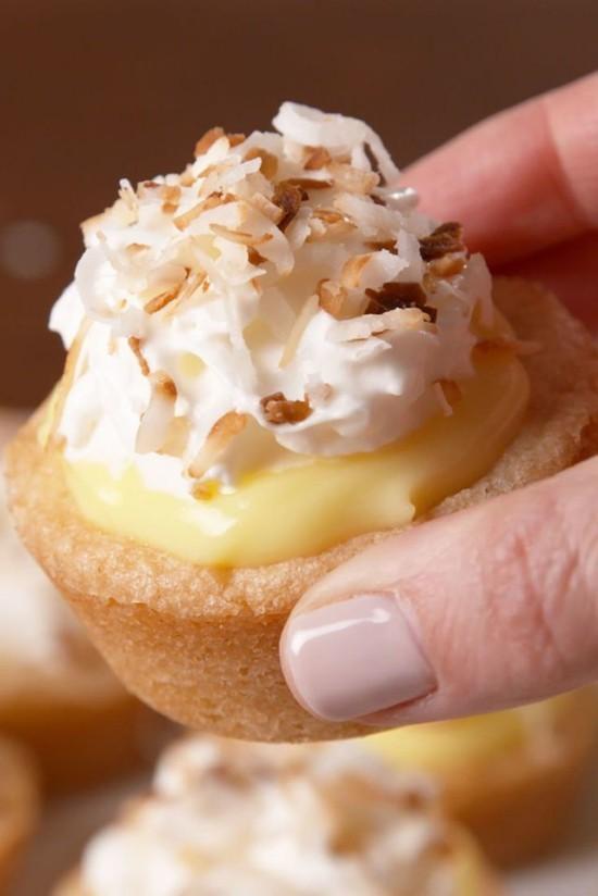 Kokosnuss Kuchen Cups kleine Variante große Partys