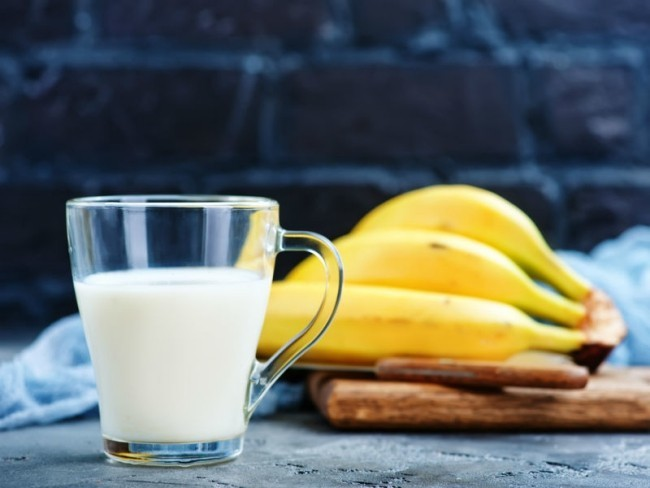 Milch und Banane