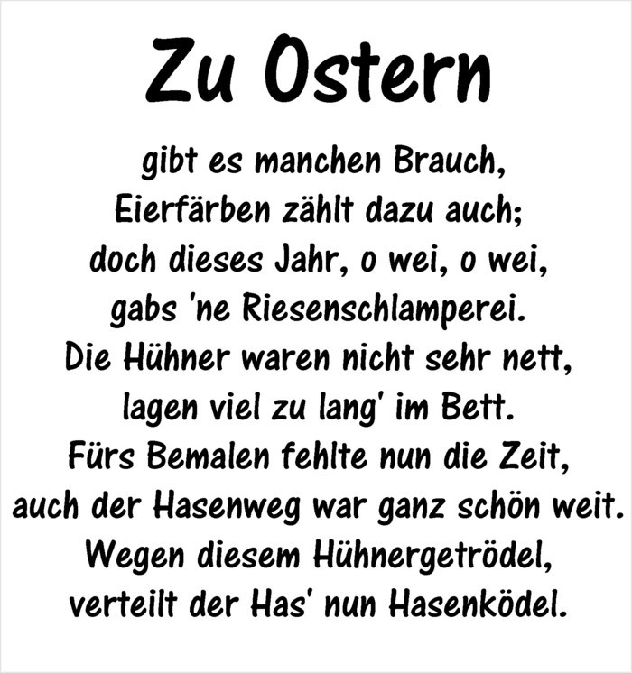 Ostern Sprueche OSterfest OSterdeko Osterhase lustig