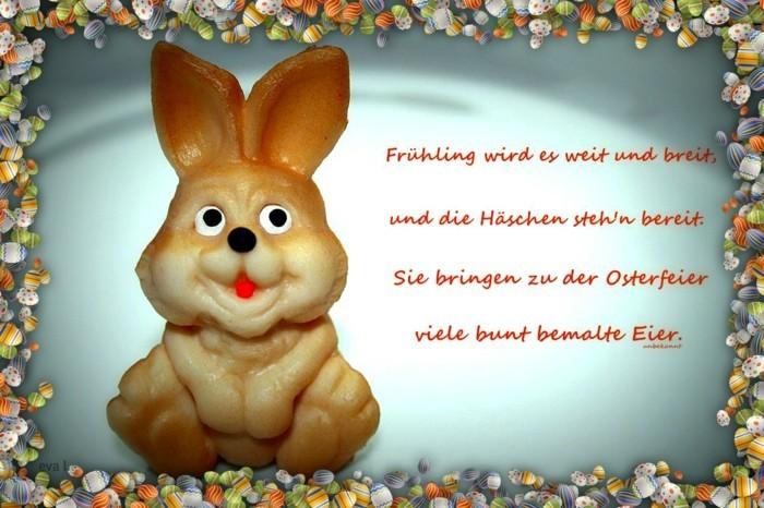 Ostern Sprueche OSterfest OSterdeko Osterhase voll nett