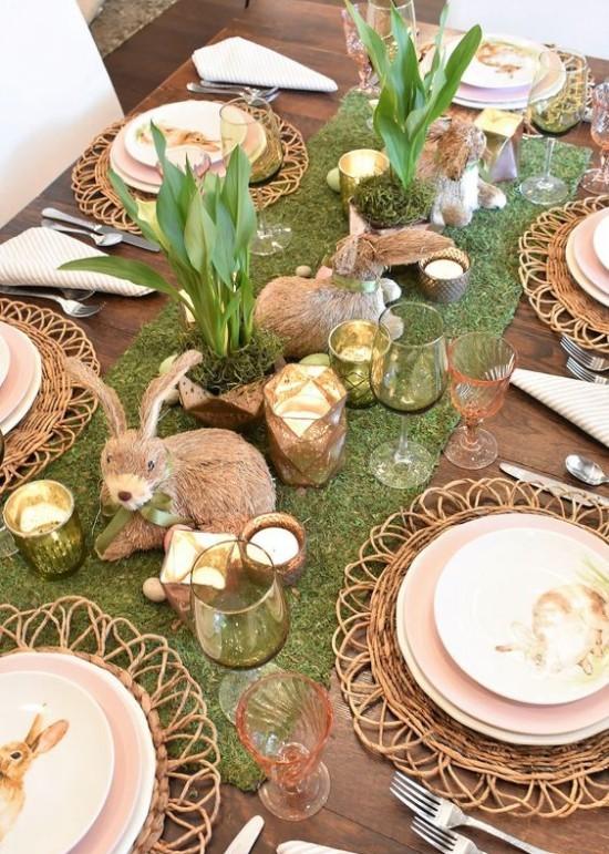 Ostern Tischdeko Hasen