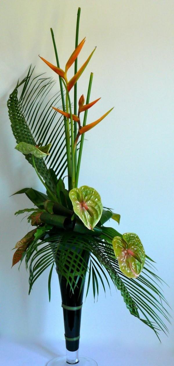 Palmsonntag eigene Deko zu Hause mit Palmzweigen