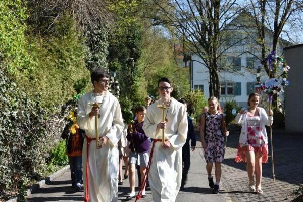 Prozession Palmsonntag an vielen Orten Deutschlands