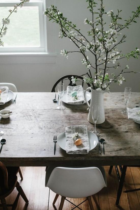 Rustikale Tischdeko Ostern