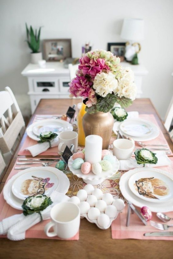 Schöne Tischdeko Ostereier