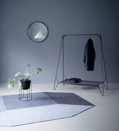 skandinavisches design grautone teppich